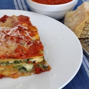 Three-Cheese Butternut Squash Lasagna