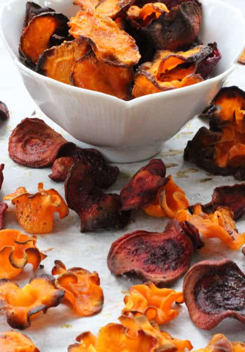 Crispy baked vegetable chips are a fantastic and easy snack. | Mother Would Know