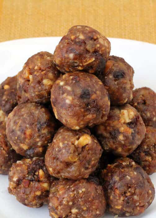 Charoset balls ready to eat on Passover.