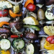 Grilled Vegetable Shish Kebabs