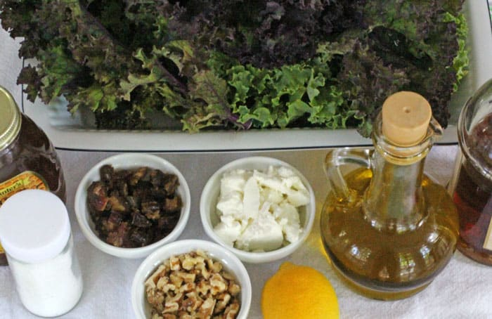 Ingredients for Middle Eastern kale salad | Mother Would Know
