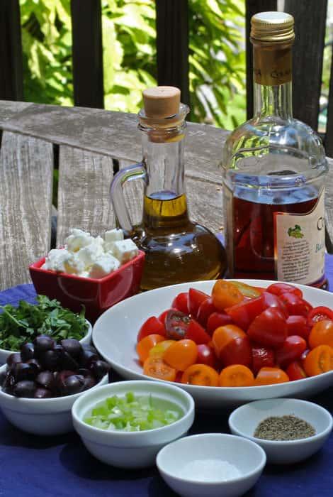 tomato, feta, & olive salad