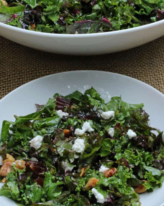 Middle Eastern Kale Salad - An easy way to make your salad a full meal, and healthy too! | Mother Would Know