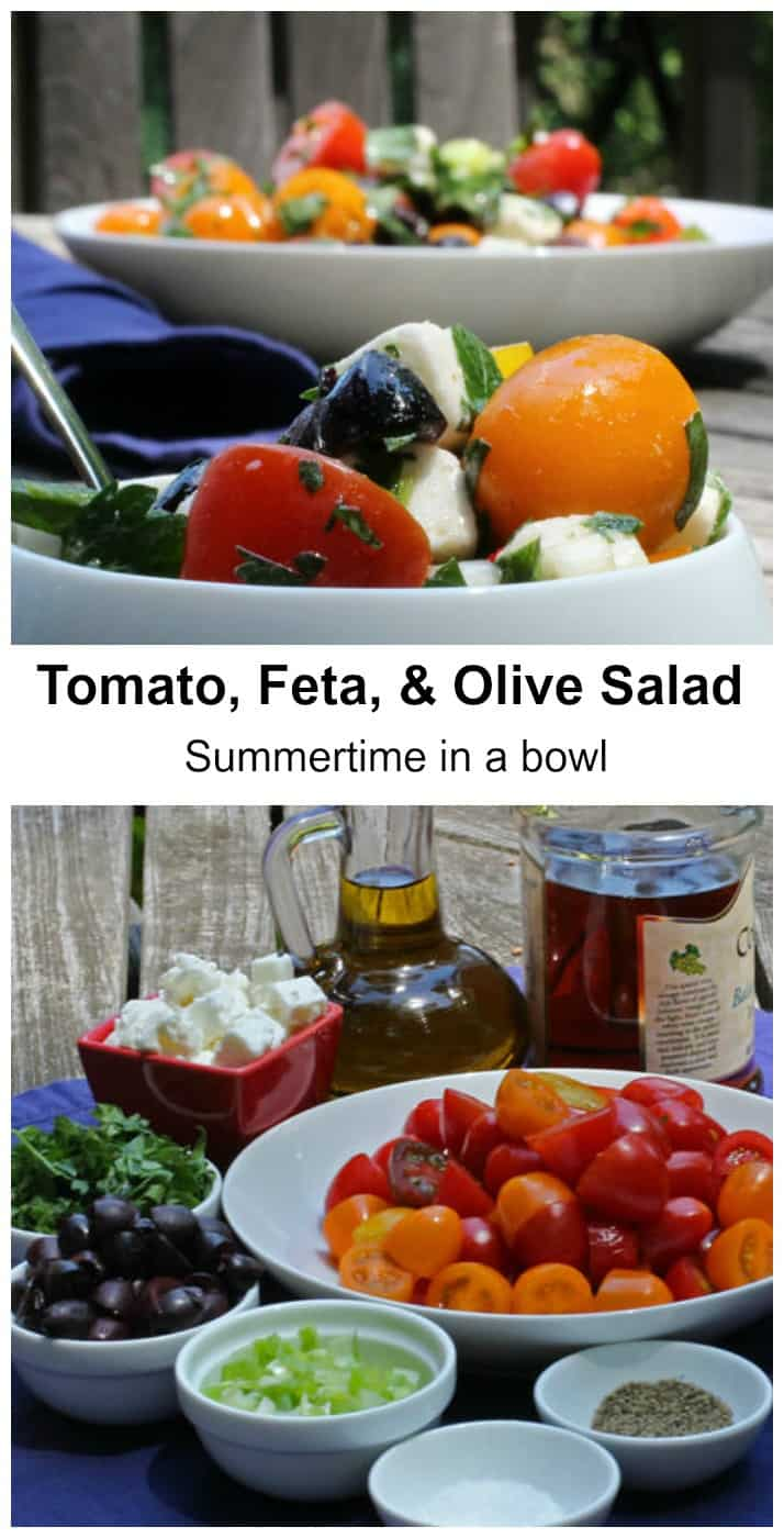 Tomato, Feta & Olive Salad - Summertime in a bowl | Mother Would Know