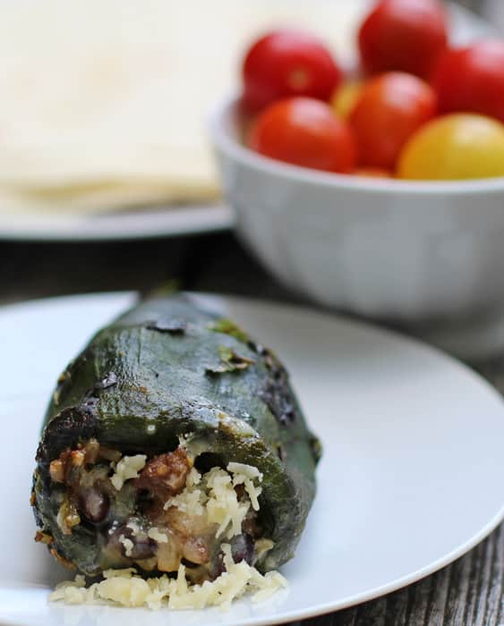Easy Stuffed Poblano Peppers - perfect summer meal made on the stovetop | Mother Would Know