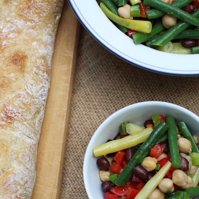 4 Bean Salad - a tastier and more colorful cousin to the traditional 3 bean salad | Mother Would Know