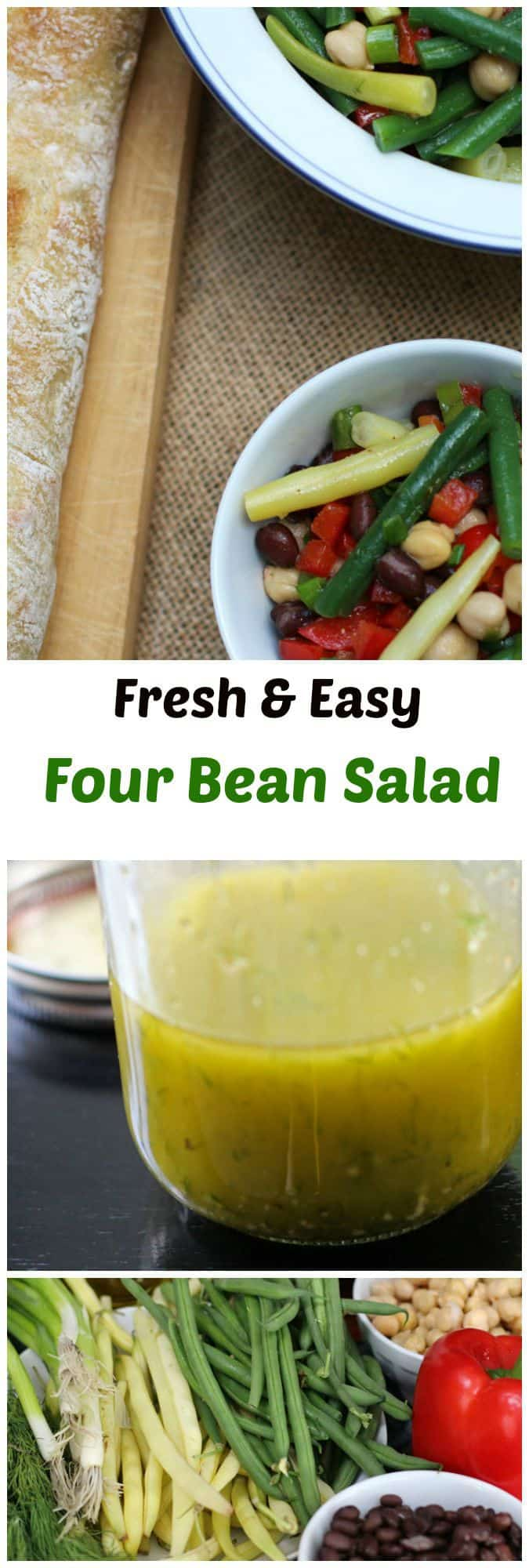 Fresh & Easy Four Bean Salad - A simple and delightful side dish for any lunch or dinner | Mother Would Know