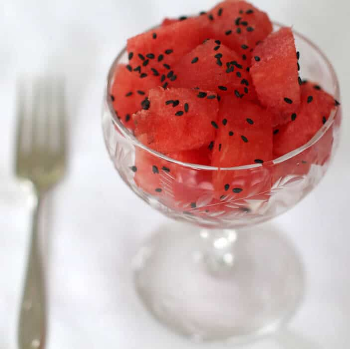 Elegant and simple watermelon dessert - just 2 ingredients. | Mother Would Know