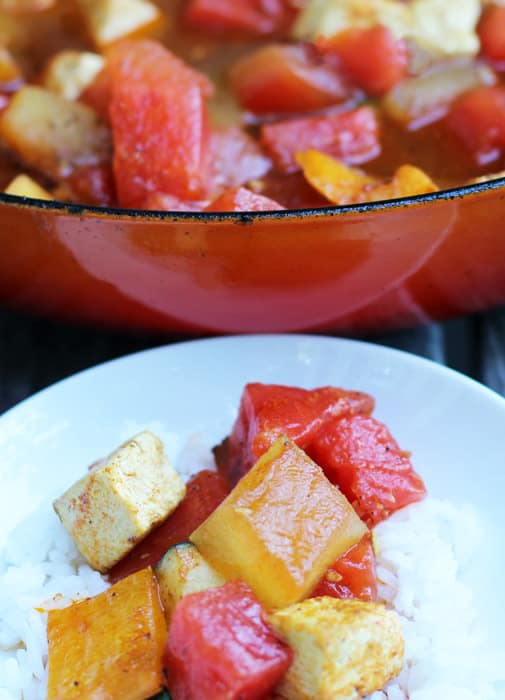 Watermelon Curry is a delightful, easy dinner that is both spicy and refreshing. | Mother Would Know