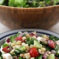 Tangy Vegetable Salad with Feta