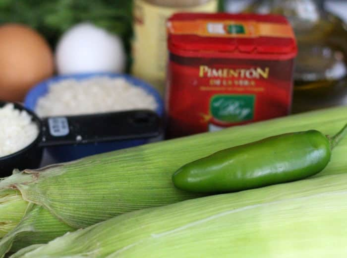 ingredients for corn cakes or latkes | Mother Would Know