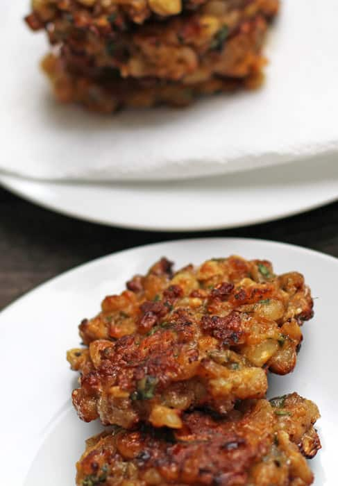 Corn cakes or latkes are a quick and delicious side dish | Mother Would Know