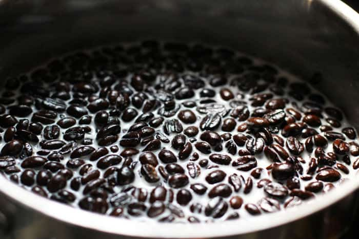coffee beans and ice cream base steeping | Mother Would Know