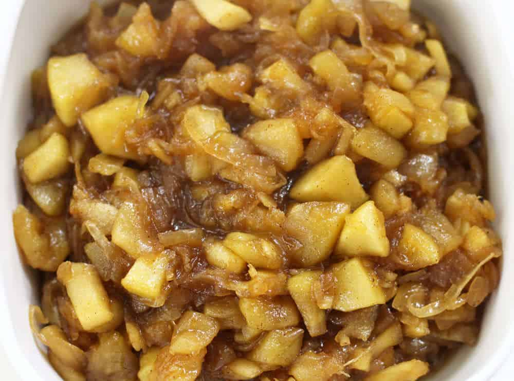 Apple and caramelized onion chutney, done cooking and ready to chill | Mother Would Know