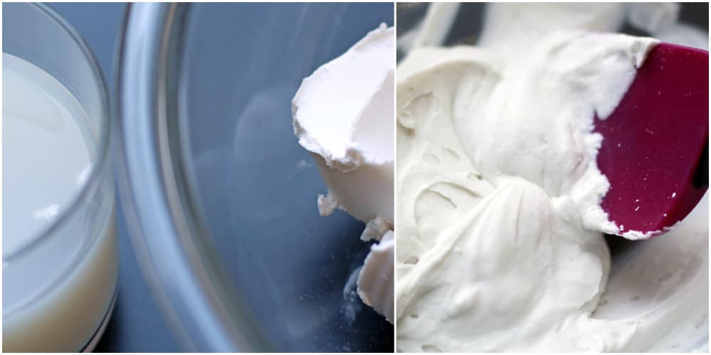 coconut milk before and after whipping | Mother Would Know