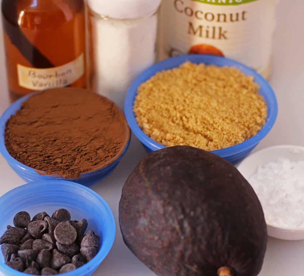 ingredients for non-dairy, no-cook chocolate parfaits | Mother Would Know