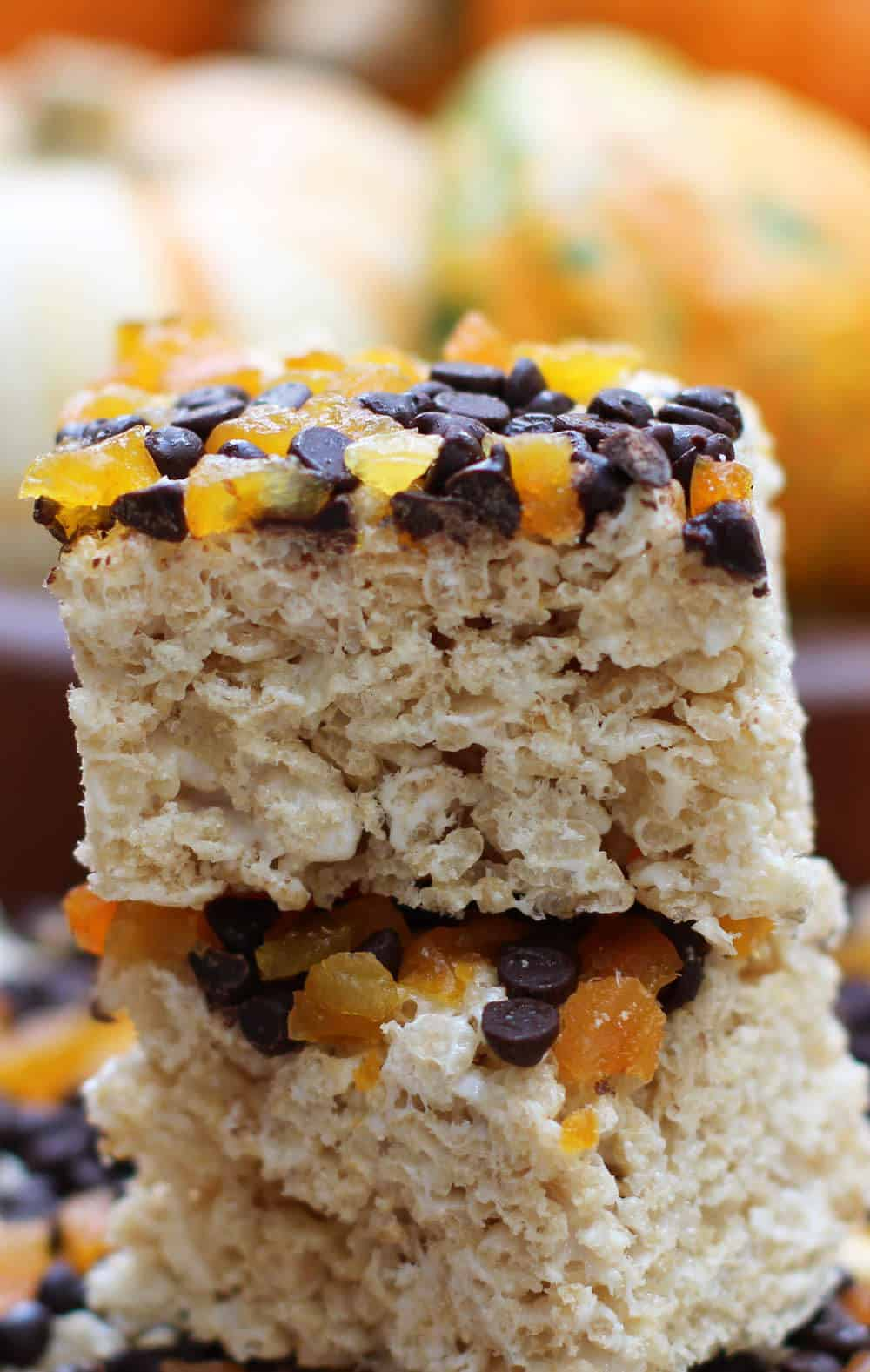 Chocolate Apricot Marshmallow Crunch Bars are a fabulous Halloween or anytime treat | Mother Would Know