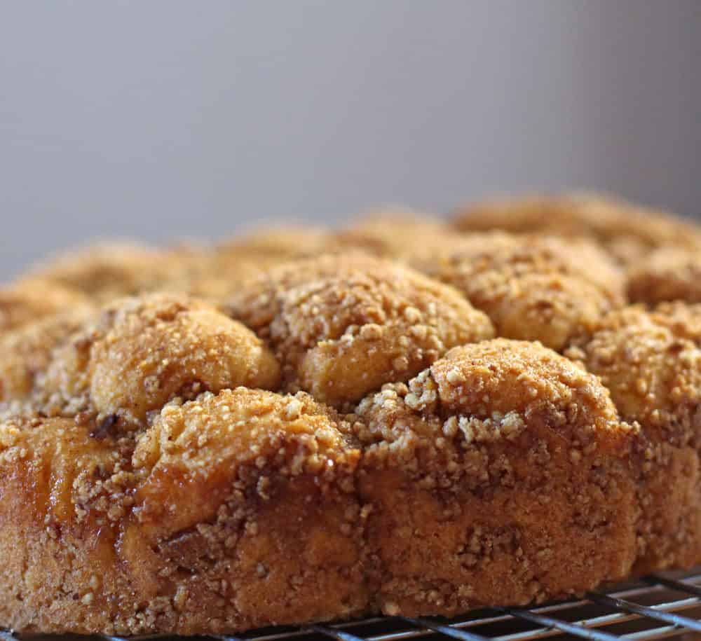 Closeup of sweet potato monkey bread from Donna Currie's Make Ahead Bread | Mother Would Know