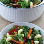 Kale pasta salad, an easy weeknight feast for your eyes as well as your tastebuds | Mother Would KNow