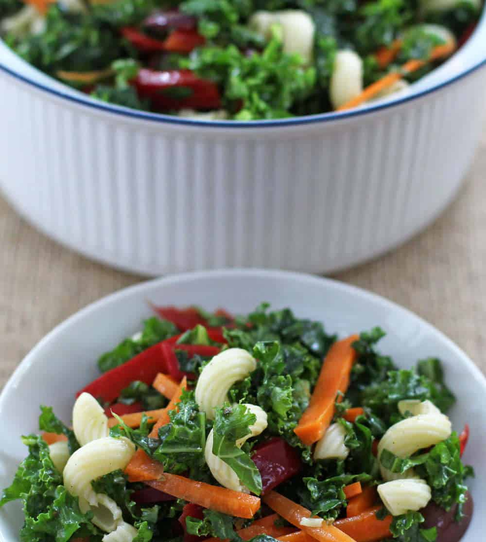 Weeknight kale pasta salad | Mother Would Know