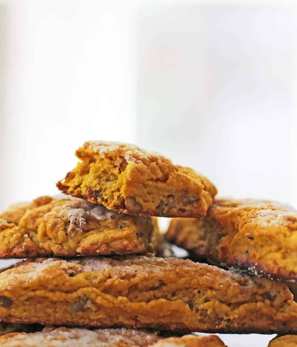 Sugar-topped pumpkin pecan scones are simple to make | Mother Would Know