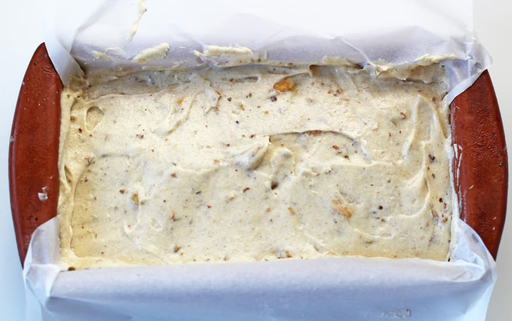 how to use parchment paper in glazed apple cider loaf cake