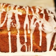 Glazed Apple Cider Loaf Cake