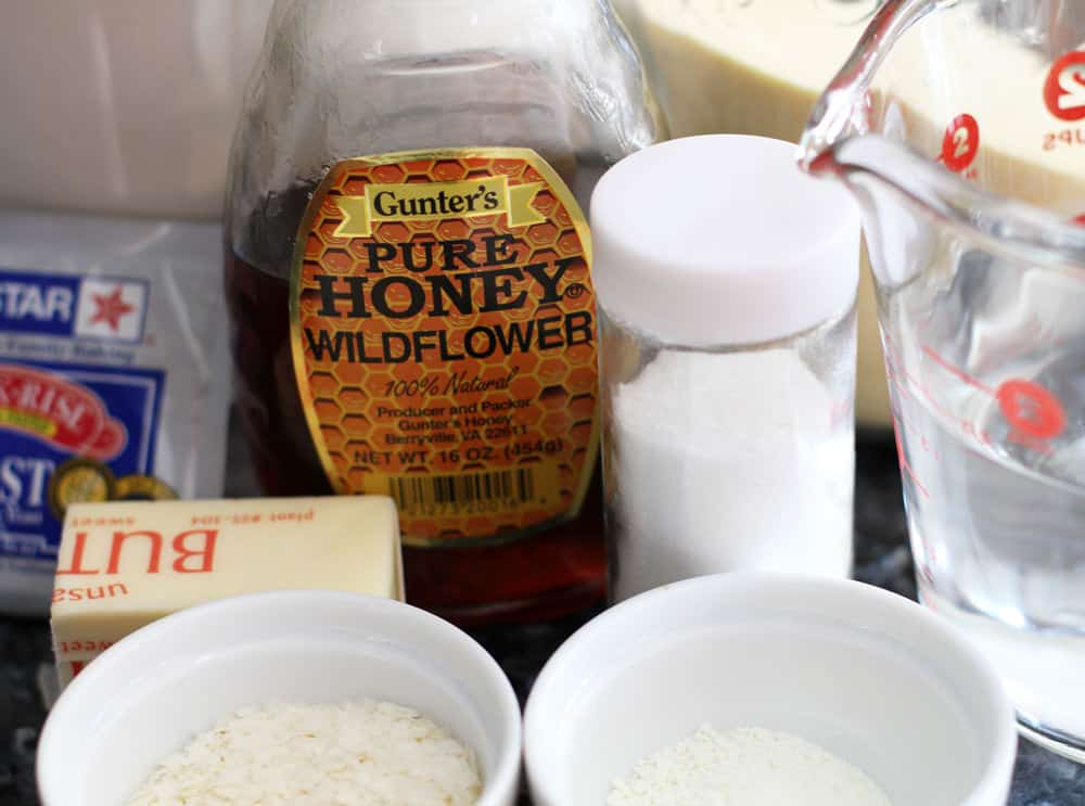 Ingredients for Holiday Dinner Buns from Make Ahead Bread.