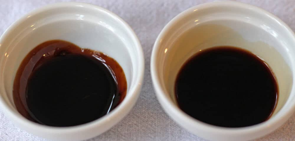 Comparing uncooked balsamic vinegar to cooked balsamic glaze
