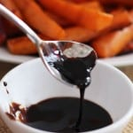 balsamic glaze is great drizzled on vegetables, used as a marinade or glaze on fish or poultry or added to soups for flavor.