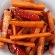 Stove Top Balsamic Glazed Carrots