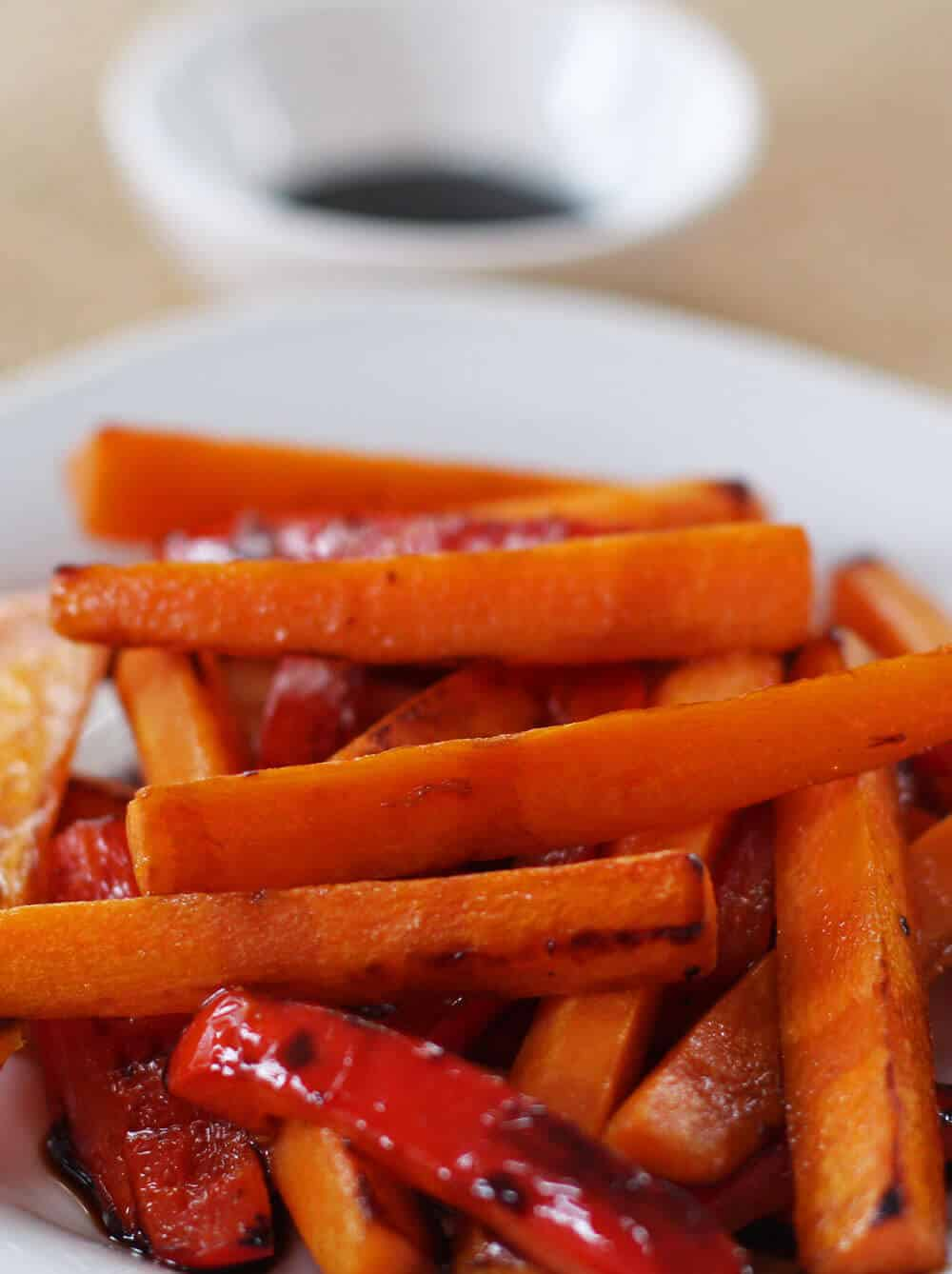 Stove top balsamic glazed carrots are a simple, nutritious, and delicious side dish - especially in cold weather.