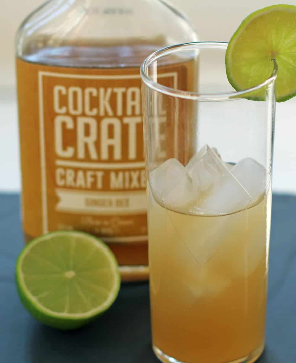 Using Cocktail Crate mixer to make a Moscow Mule is great for a cocktail novice.