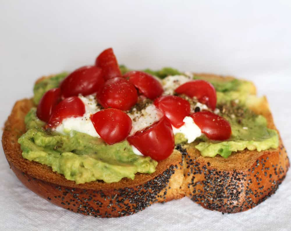 You can't beat avocado toast with feta and za'atar for breakfast, lunch, or a snack.