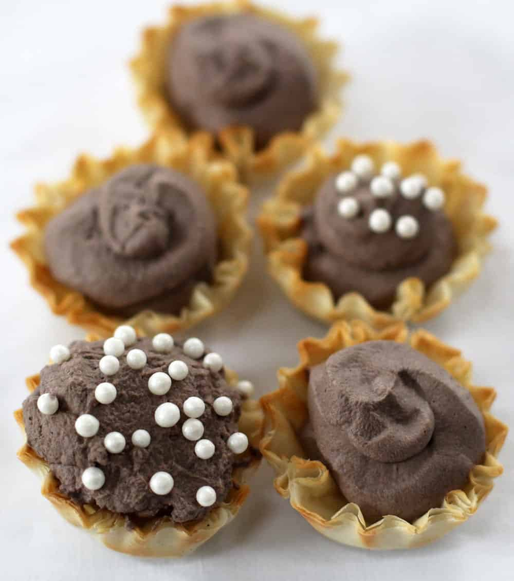 Chocolate-filled bites are simple and elegant.