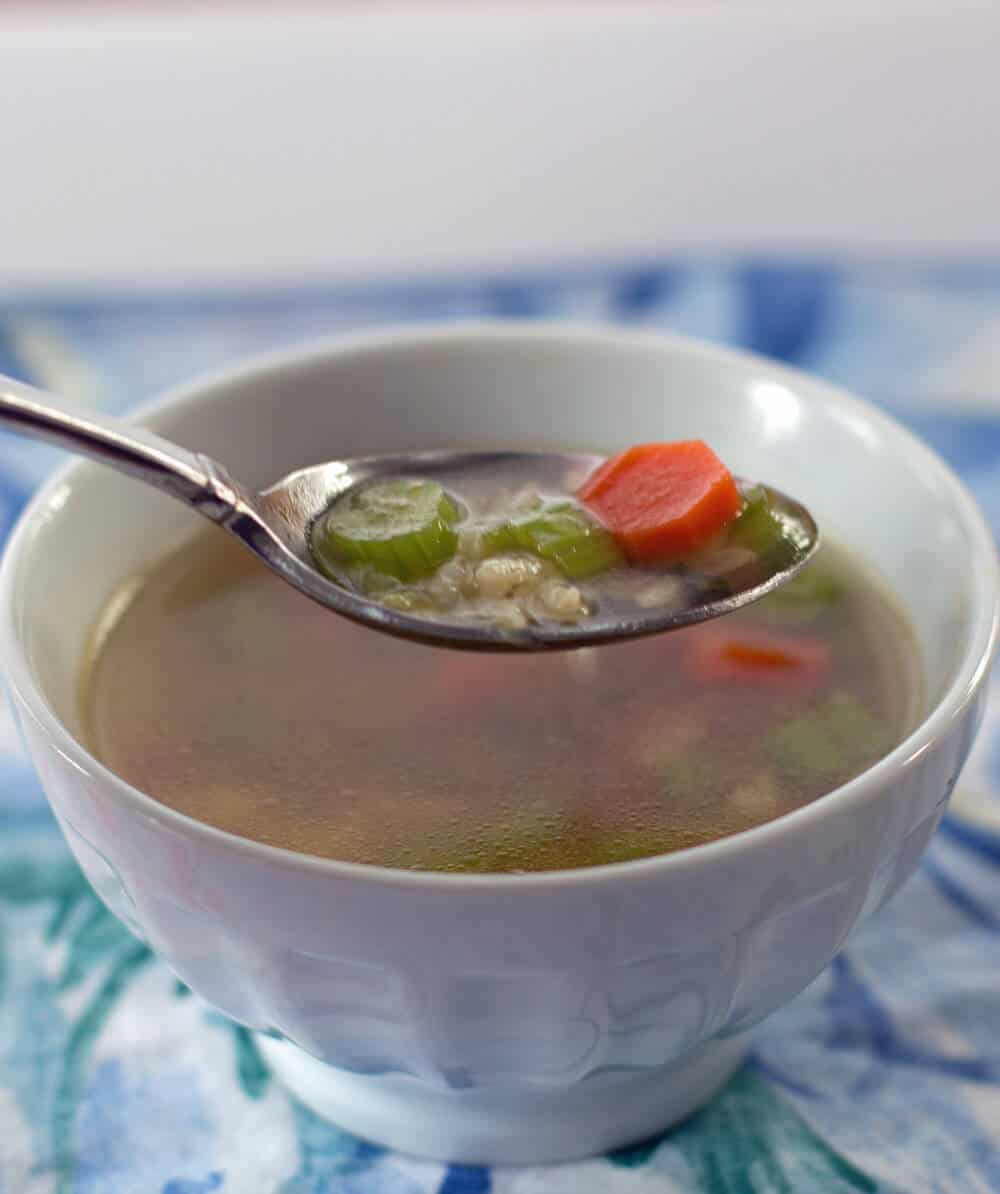 You can make vegetable soup in minutes if you have basic vegetable broth on hand.