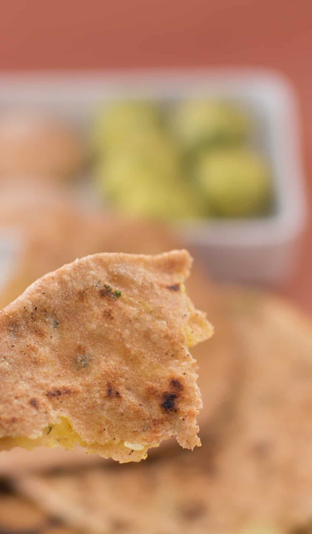 Aloo paratha, potato-filled flatbread, is a delicious Indian bread, perfect for sopping up sauce or eating on its own.