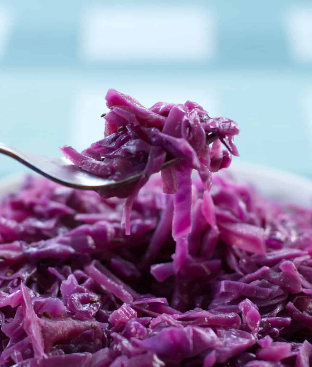 Braised Red Cabbage with Cider Vinegar.