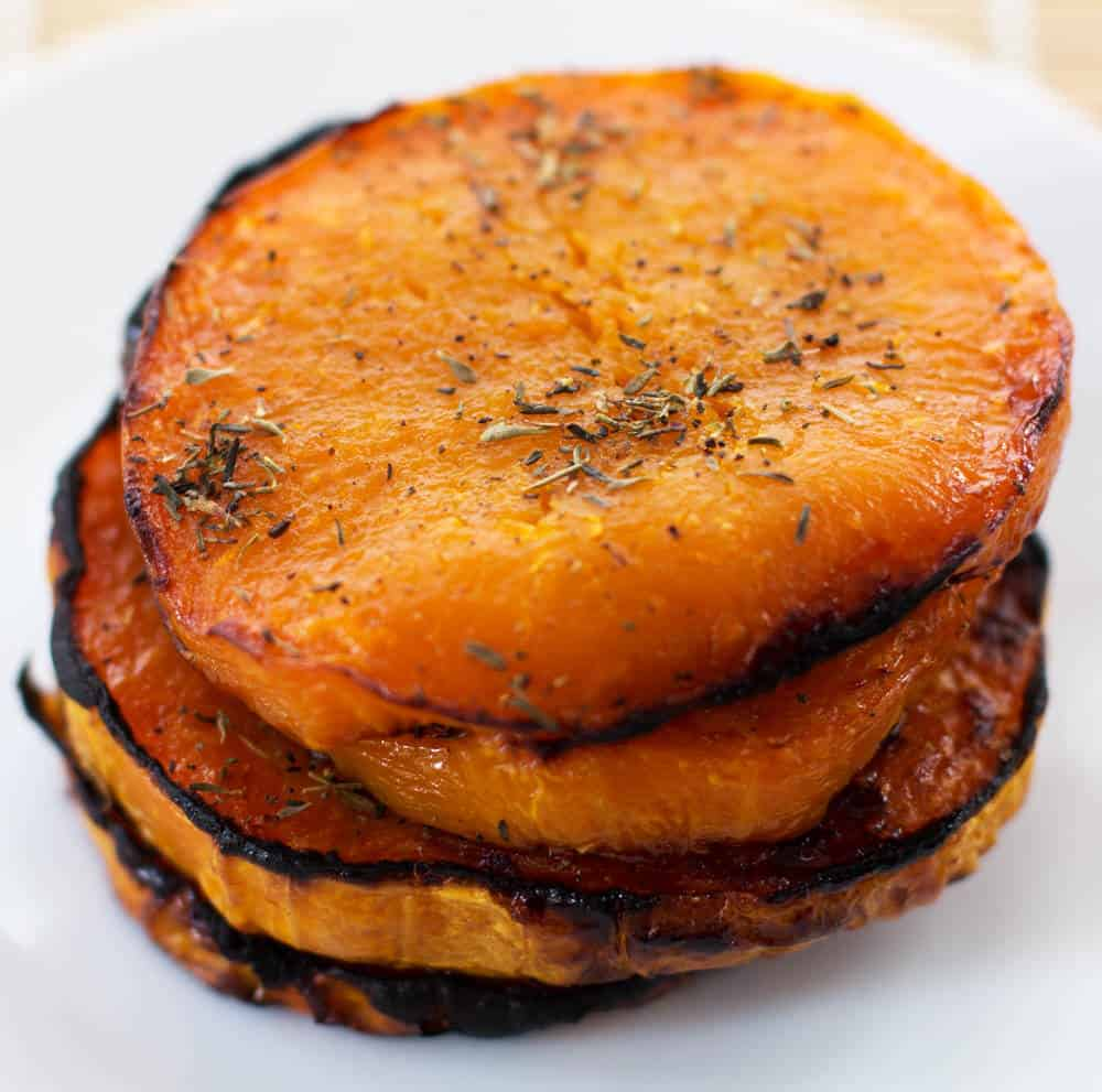 Maple-roasted Butternut Squash Slices with Thyme | Mother Would Know