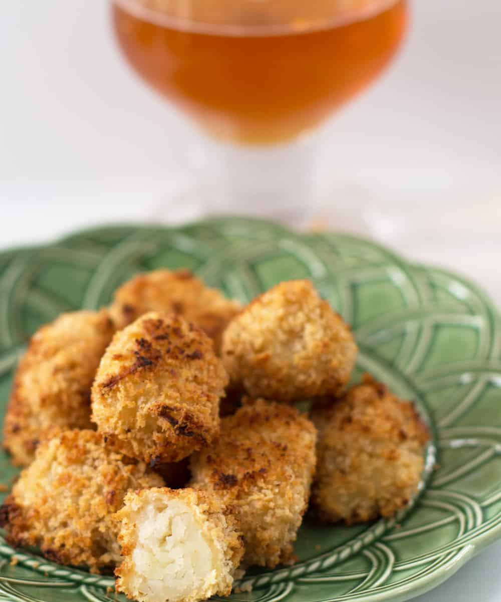 Beer-coated tater tots, a delicious grown-up way to celebrate St. Patrick's Day, or any day. | Mother Would Know