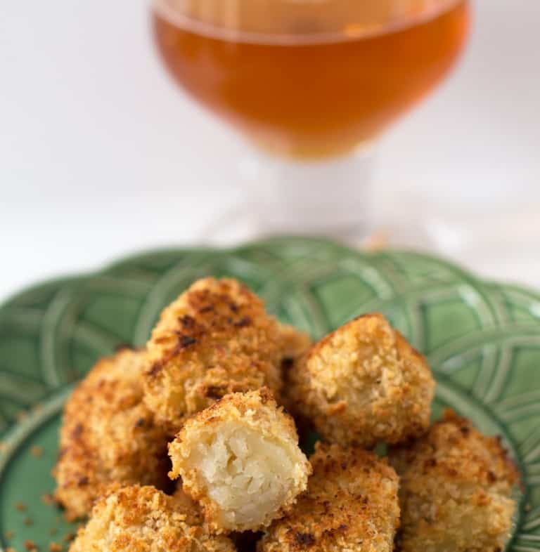 Beer-coated tater tots