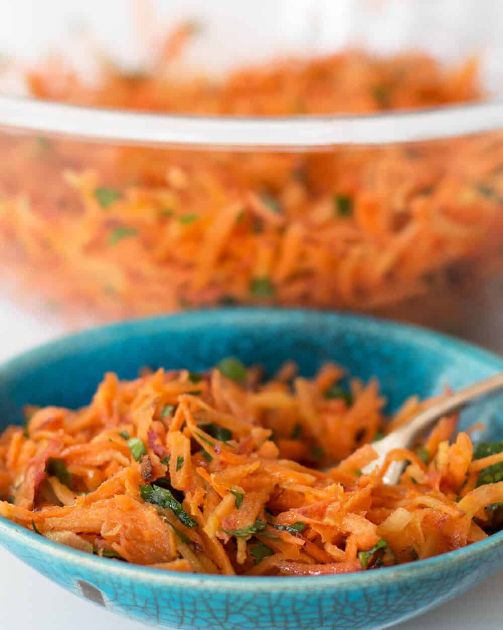 Moroccan Shredded Carrot Salad, a delightful and easy, slightly spicy salad | Mother Would Know