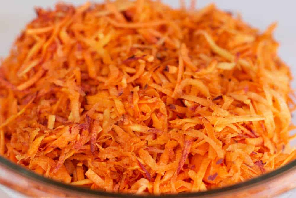 Shredded carrots for salad | Mother Would Know