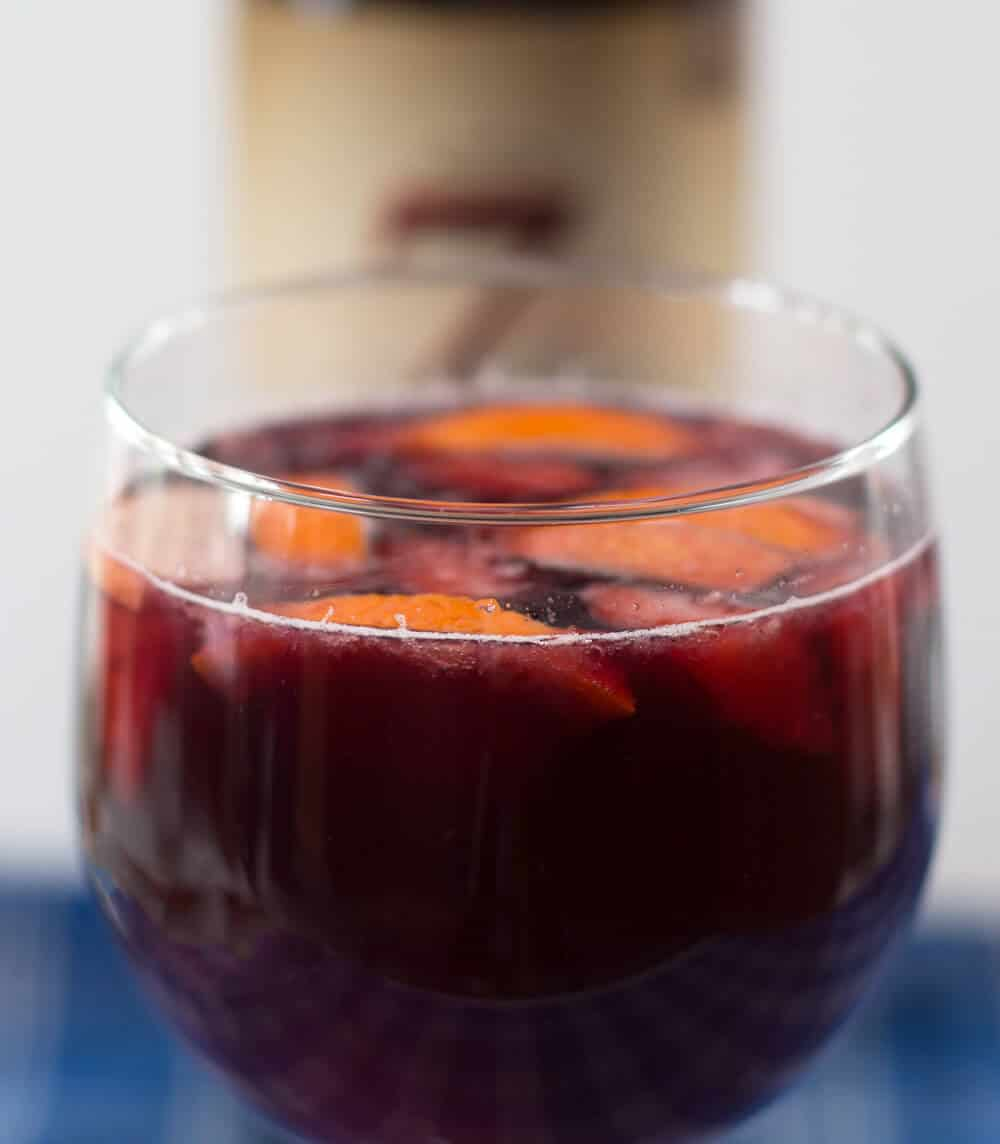 Red Wine Single Serve Sangria - A perfect and simple way to enjoy warm weather | Mother Would Know