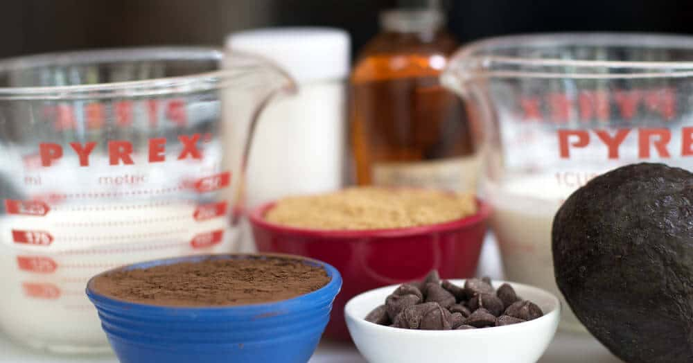 Ingredients for avocado chocolate pudding mousse. | Mother Would Know