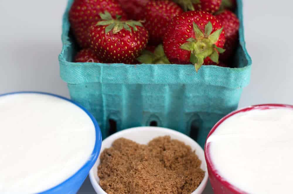 Ingredients for Sweet Creamy Summer Fruit Dip