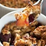 Agave-sweetened fresh fruit crumble