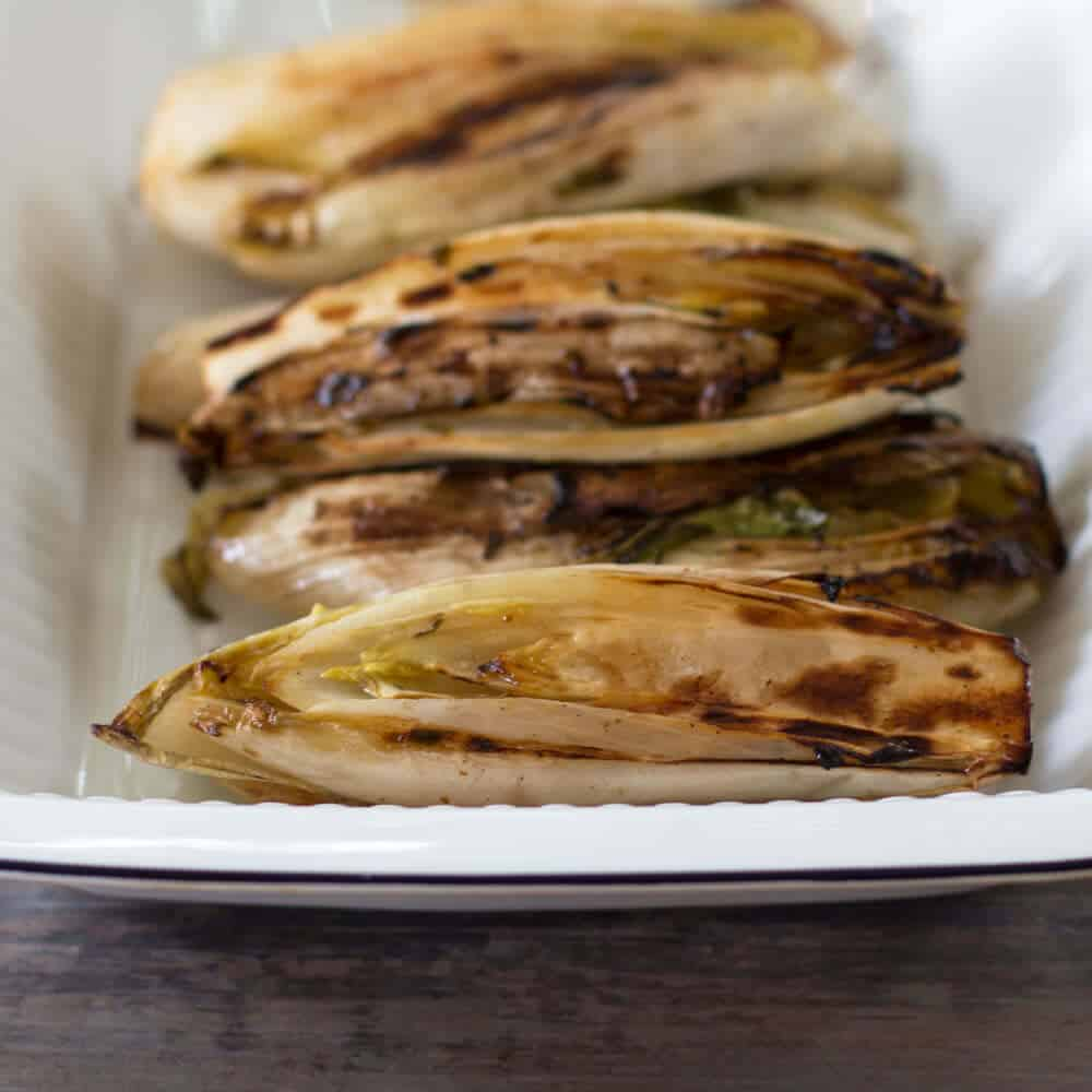 Grilled Belgian Endives - a great and simple side dish for any barbecue. From Mother Would Know