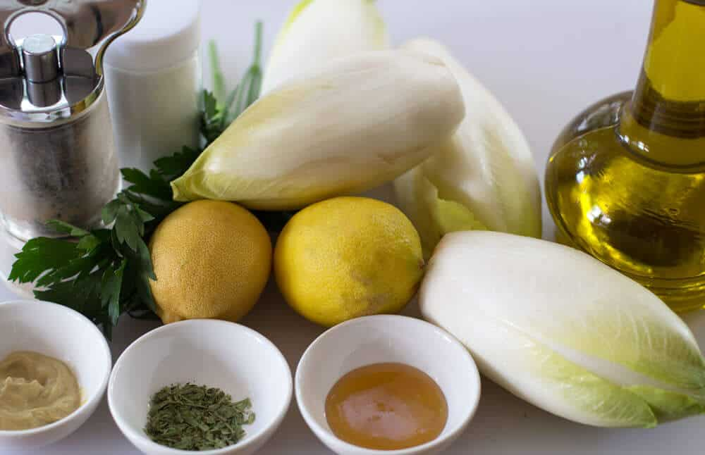 The ingredients for Grilled Belgian Endive. From Mother Would Know