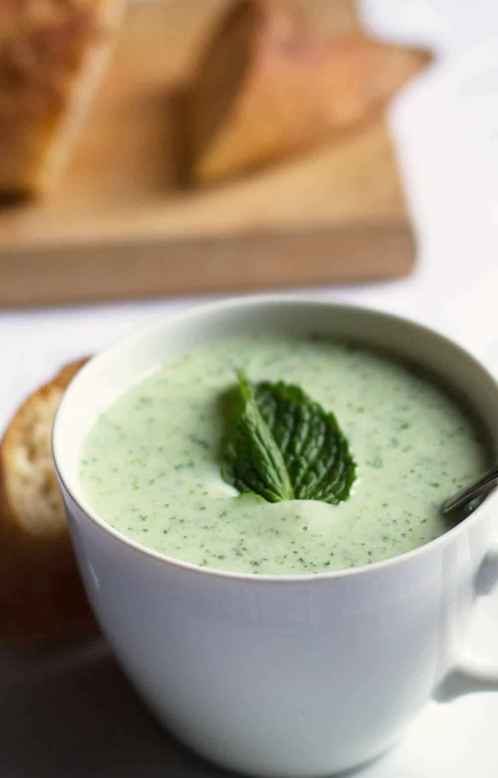 Chilled Avocado Cucumber Soup - a perfect summer light meal, appetizer ...